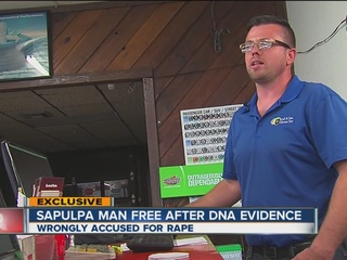 Sapulpa man cleared in rapes talks about ordeal