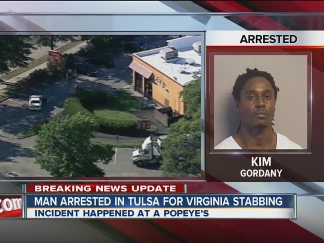 Man Arrested In Tulsa For Virginia Stabbing