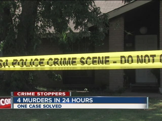 Tulsa Police are investigating 4 murders that happened in 24 hours.
