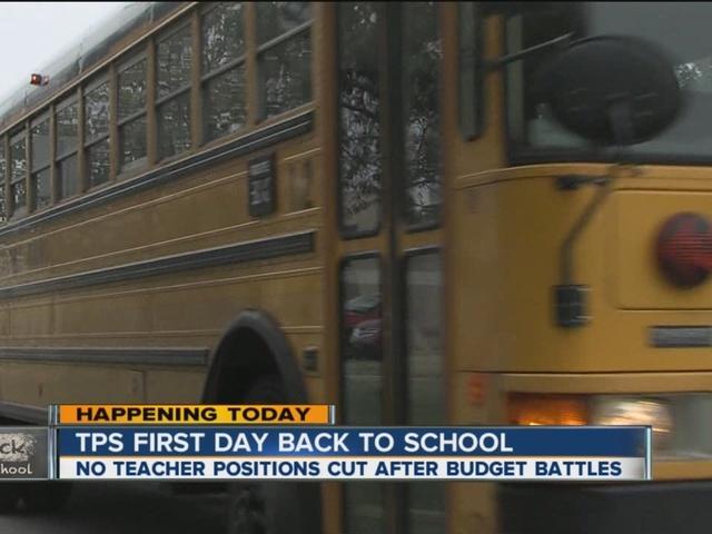 Tulsa Public Schools teachers and students head back to school