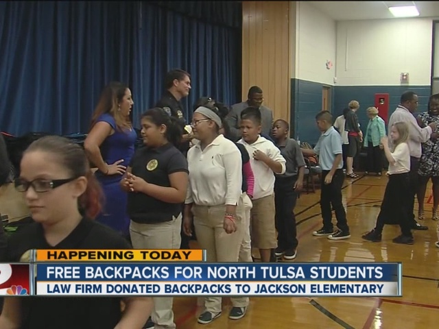 Law Firm donates free backpacks and supplies to North Tulsa students