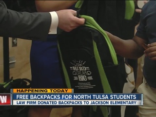 Students get backpacks, supplies in north Tulsa