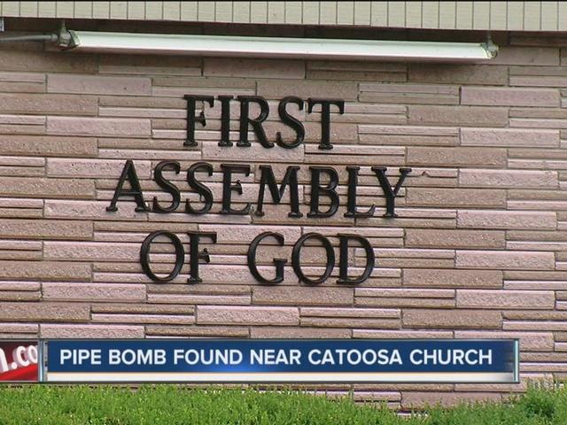 Pipe bomb safely detonated near Catoosa church
