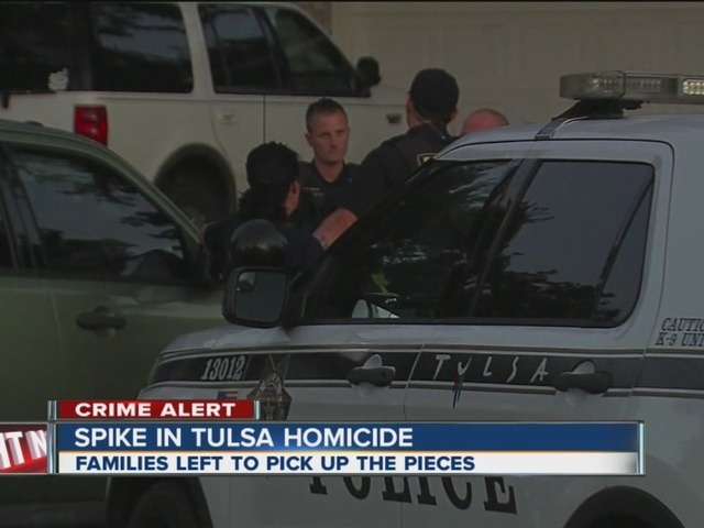 Tulsa police see spike in city's homicides