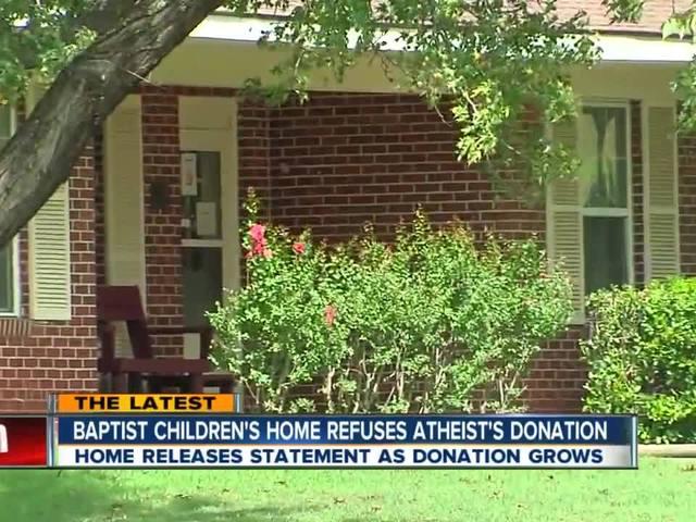 Baptist Children's Home Refuses Atheist's Donation