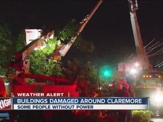Buildings Damaged Around Claremore