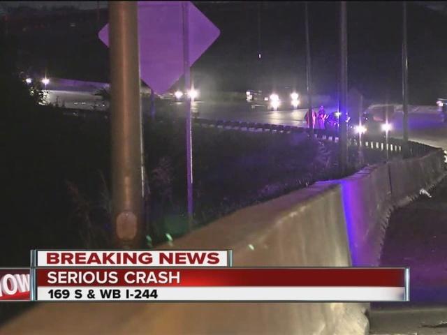 Semi-truck crashes on Highway 169