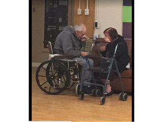Elderly married couple forced to part ways