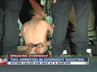 Overnight shooting leads to two arrests