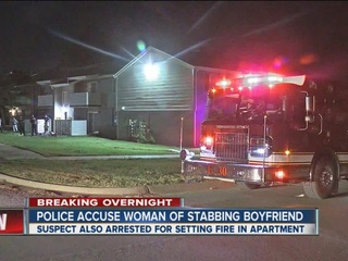 TPD: Woman stabs boyfriend, starts fire