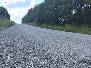 Residents concerned over dangers of gravel road