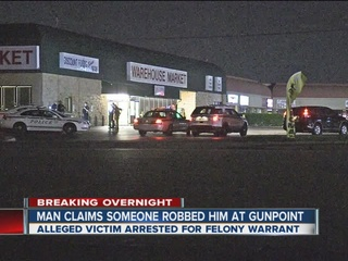Alleged victim arrested after reporting robbery