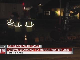 Repairs continue on south Tulsa water main break