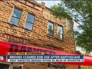 Bridge inspections find no damage after quake
