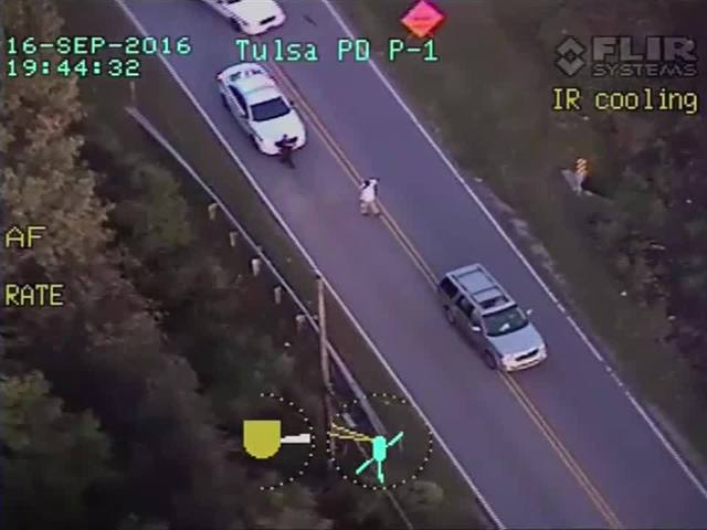 Terence Crutcher: Officer involved fatal shooting, helicopter view