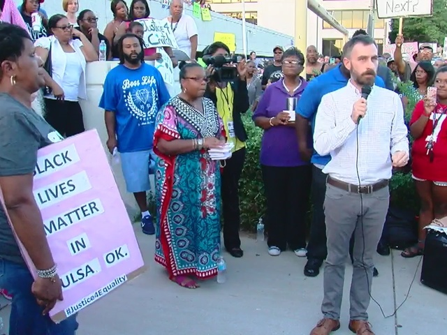 Protest for Justice rally downtown Tulsa following Terence Crutcher…