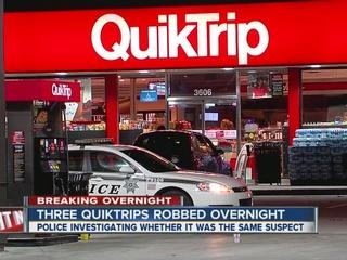 Police investigate three QuikTrip robberies