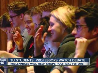 TU hosts presidential debate watch party
