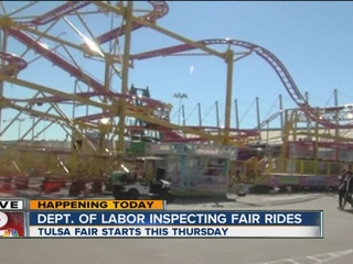 Inspections begin for Tulsa State Fair rides