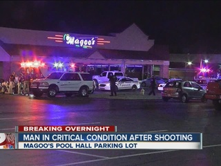 Man in critical condition in pool hall shooting