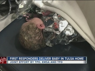 TPD, firefighters, EMSA delivery baby at house