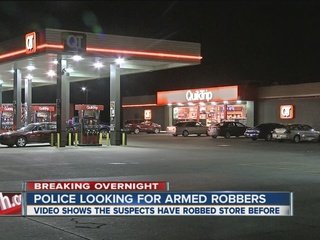 Police searching for 2 who robbed QuikTrip