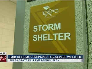 Severe weather safety at the Tulsa State Fair