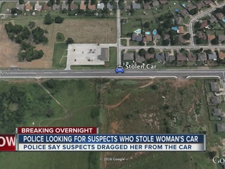 Police searching for alleged car thiefs