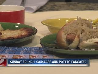 Sunday Brunch: Sausages and Potato Pancakes