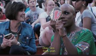 WATCH: Tulsa woman befriends NYC performer
