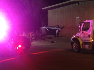Car crashed into building in midtown Tulsa