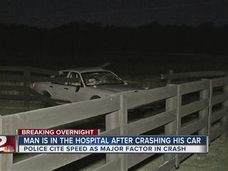 Man hospitalized after east Tulsa crash
