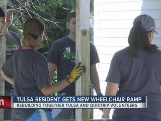 Tulsa woman gets help rebuilding wheelchair ramp