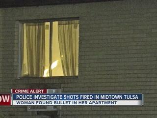 Woman hears gunshots, finds bullet in apartment