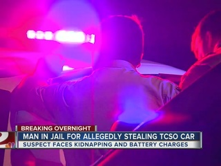 Man arrested after allegedly stealing TCSO car