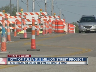 Portion of Sheridan closed for construction