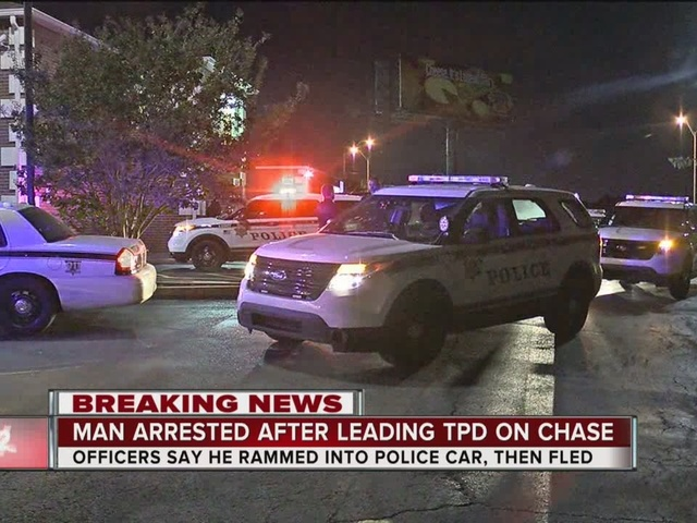 Man behind bars after leading TPD chase