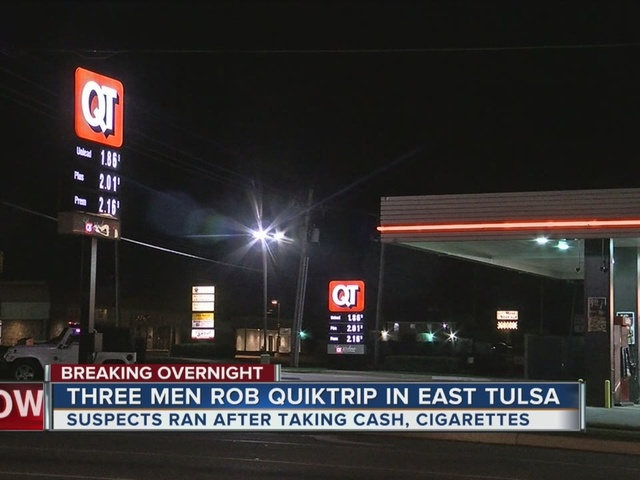 Three suspects on the run after robbing an East Tulsa Quiktrip