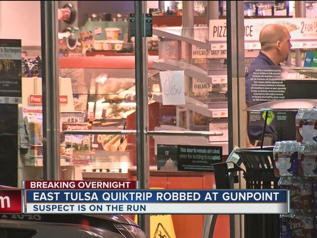 Quiktrip robbed at gunpoint in East Tulsa overnight
