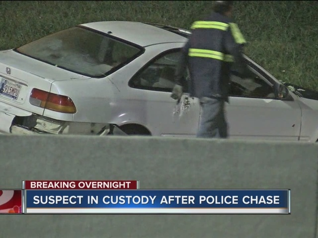 A man leads police on chase in North Tulsa after stealing a car.