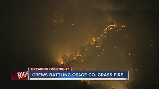 Firefighters battling grass fire in Osage Co.