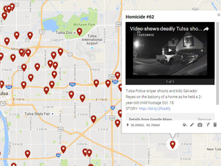 MAP: Location, info on Tulsa's 72 homicides