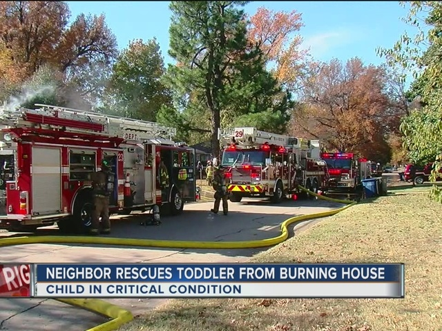 Neighbor rescues Toddler From Burning Home