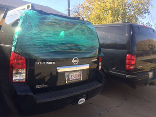 Vehicle windows shot out with BB gun