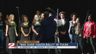 Dozens attend 'Bad Dude Youth Rally' in Tulsa