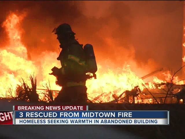 TFD: Homeless gather in abandoned building before fire broke out…