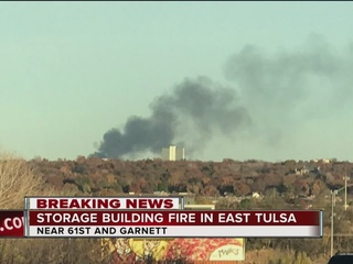 TFD responding to storage fire in south Tulsa