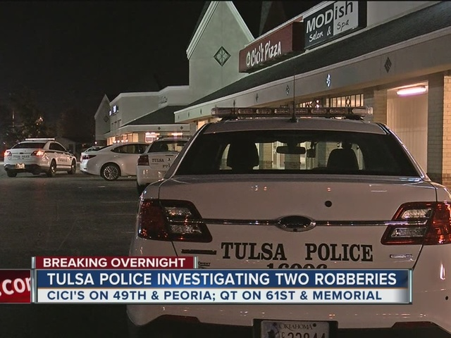 TPD investigate two armed robberies
