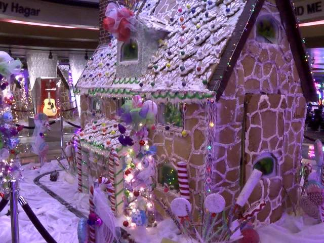Tulsa's Hard Rock Hotel and Casino builds 12-foot tall gingerbread house