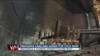 Residents preparing cars and homes for...